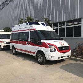 重症监护型救护车 120医院急救转运救护车 福特长轴高顶救护车