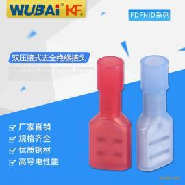 双压接式全绝缘母尼龙接头 电子元器件连接器冷压铜管端头伍佰
