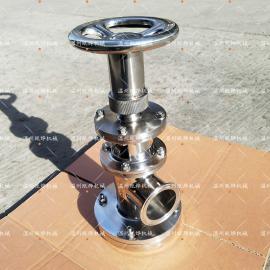 NUOERXIN 卫生级上展式柱塞罐底阀 DN65快装上展式柱塞罐底阀