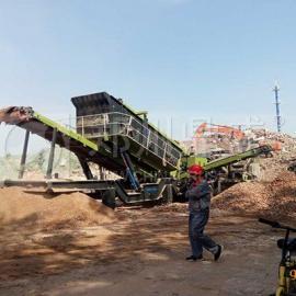 鼎盛建筑垃圾处理成套设备项目运行现场就近考察