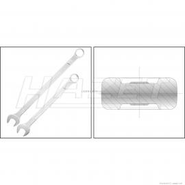 606-27棘轮组合扳手 德国HAZET哈蔡特 450N-8X10双开口扳手