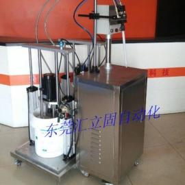五加仑压盘式AB双液混胶机,高粘度双组份硅胶打胶机。