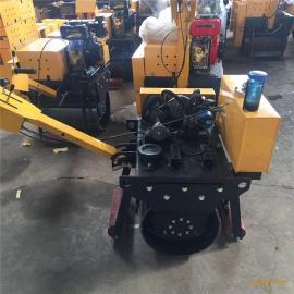 600型手扶式振动压路机 小型柴油碾子价格实惠
