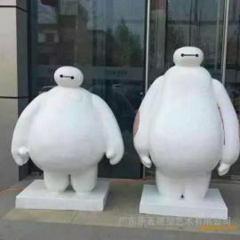 东莞卡通雕塑厂家供应卡通人物大白雕塑 儿童乐园景观雕塑摆件