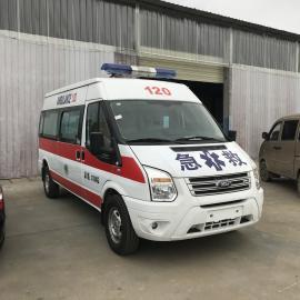 福特全顺V348救护车 长轴高顶长途运输型急救车价格