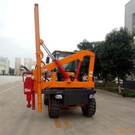厂家 公路专用型波形护栏打桩机 立柱打桩机 公路立柱打桩机
