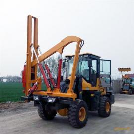 直销 铲车式护栏打桩机 铲车改装打桩机 高速公路护栏打桩机