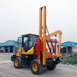 公路护栏立柱打桩机 打桩机规格型号 山东打桩机生产厂家
