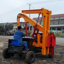 厂家直销 小型四轮打桩机 小型打桩机 自制底盘打桩机