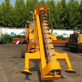 厂家液压钻孔机 装载式电线杆钻孔机 液压电线杆挖坑机
