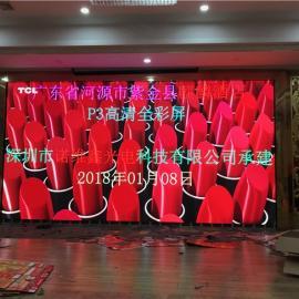 LED电子屏背景墙装P3全彩多少钱