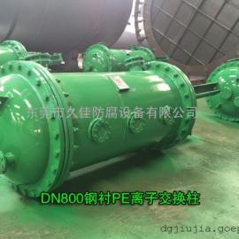 DN800离子交换柱设备 湛江 肇庆钢衬PE离子柱 离子柱规格