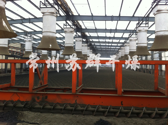 大型阳光房污泥干化系统,太阳能余热利用污泥干化系统