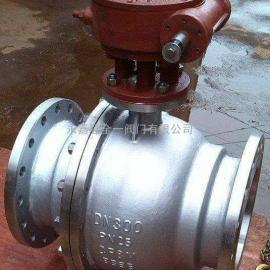 Q347F不锈钢蜗轮固定球阀