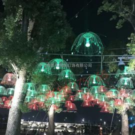led仿真水母灯景观灯光纤水母装饰灯户外防水厂家直销 可订制