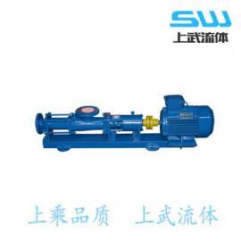 G型螺纹泵 G型单螺杆泵 铸铁螺杆泵 浙江螺杆泵供应商