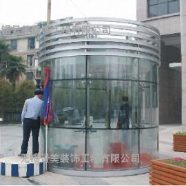江阴玻璃活动房-江阴值班站台玻璃岗亭-江阴移动玻璃活动房