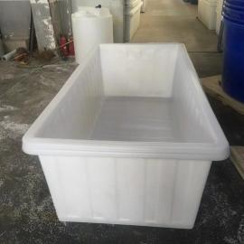 厂家直销渭南1300L方箱布衣车内胆滚塑水产塑料养殖方桶