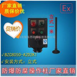 BZC8050-A2B1K1G防爆防腐操作柱/2钮1表1开关/工程塑料/武汉厂家