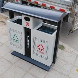 现货二分类垃圾桶 大容量垃圾箱 钢板果皮箱 青蓝厂价直销