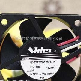 原装Nidec U35X12MS1A5-53J65 12V 0.05A 3515 超静音散热风扇