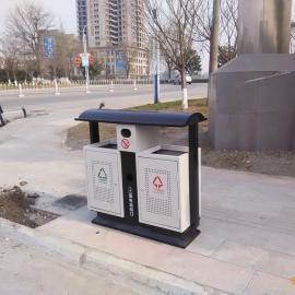 青蓝垃圾桶厂家热销市政环卫垃圾桶 果皮箱 钢板垃圾桶价格