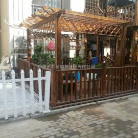市政景观防腐木花箱扇型实木花箱组合-方贸园林设施