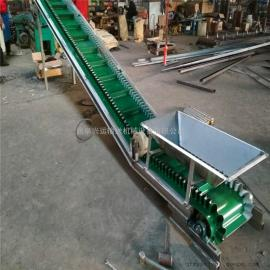 板�S�U料防滑皮��式�送�C 500mm散料卸�用V型托�皮��C
