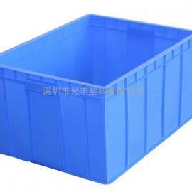 直销全网最低优惠价塑料周转箱410*305*147MM 全新PE双边箱