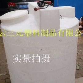 1吨锥底加药箱 洗衣液搅拌装置1000升 匀速搅拌