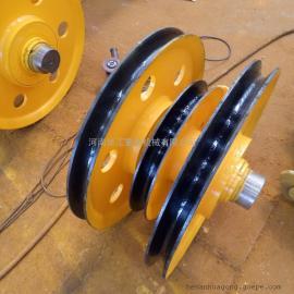 20吨夹轮带轴承滑轮组 滑轮外径565 港口起吊滑轮组 行车滑轮组