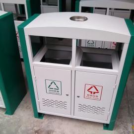 厂家直销冲孔垃圾桶 多地可用室外双口果皮箱 四川垃圾桶
