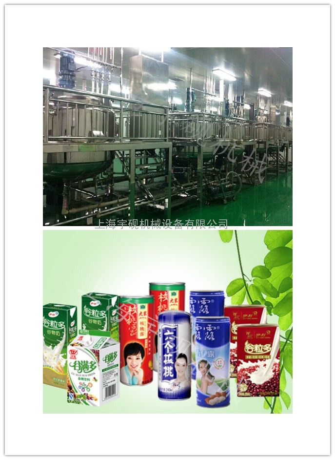 上海宇砚中小型植物蛋白饮料生产线