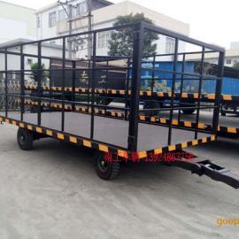 5吨护栏型平板车 黑色