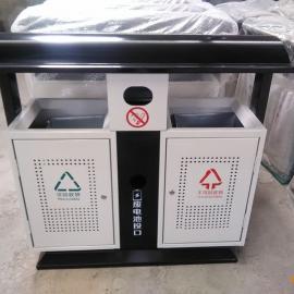 厂家定制垃圾桶 青蓝冲孔垃圾桶 质量保证双桶分类垃圾桶
