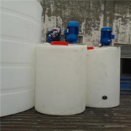 邯郸500L方形加药箱加药系统塑料计量箱盐溶箱全自动加药装置