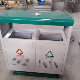 厂家热销分类垃圾桶 冲孔垃圾桶 经济实用青蓝镀锌垃圾桶