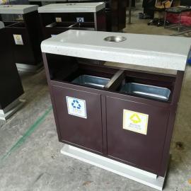 厂家直销钢板垃圾桶 多地可用分类垃圾桶 青蓝大号垃圾桶