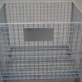 生产金属周转箱-镀锌网箱-加工钢丝网箱