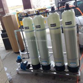 净化井水黄泥沙去除超标铁锰离子 带水泵4级过滤软水机器