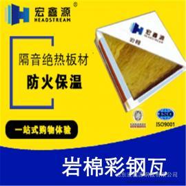 供应 岩棉彩钢瓦 岩棉夹芯板 生产厂家
