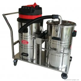 双桶式大容量强力工业吸尘器大量粉尘木屑颗粒焊渣用吸尘器