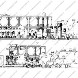 变频恒压供水设备配件 变频水泵无负压供水设备管路机组代加工