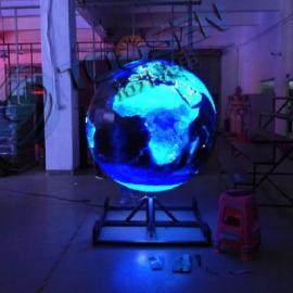 室内吊装p3p4LED地球仪圆球形全彩显示屏生产厂家报价
