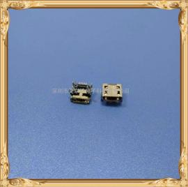micro 母座垫高1.35四脚插板贴P带柱