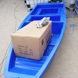 寿光3米塑料船拖网钓鱼捕鱼打鱼专用双层渔船厂家批发