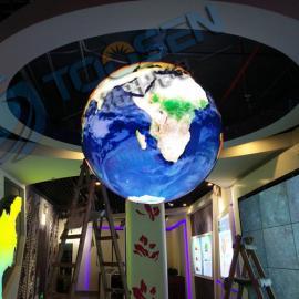贵阳科技展馆室内直径在2米的球形p4全彩LED电子屏价格