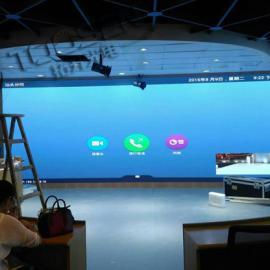 餐厅背景墙LED显示屏/室内挂壁p4led多媒体电子屏价格