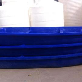 直销临海6米观光漂流船塑料船滚塑渔船