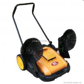 小区物业保洁用手推式扫地车灰尘落叶垃圾用移动式双刷扫地车